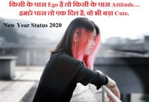 New Year Attitude status for Facebook Whatsapp 2020