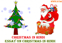 Christmas in Hindi Essay on Christmas in Hindi