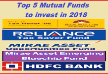 Top 5 Mutual Funds to invest in 2018