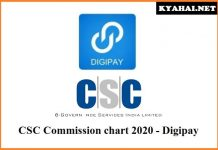 CSC Commission chart 2020 Digipay
